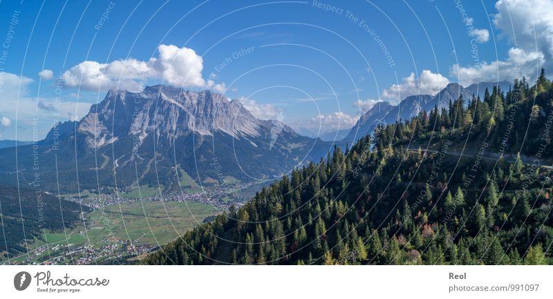 Zugspitze II Natur Ferien & Urlaub & Reisen blau Pflanze grün Sommer Baum Wolken Wald Umwelt Berge u. Gebirge Herbst grau Felsen Erde wandern