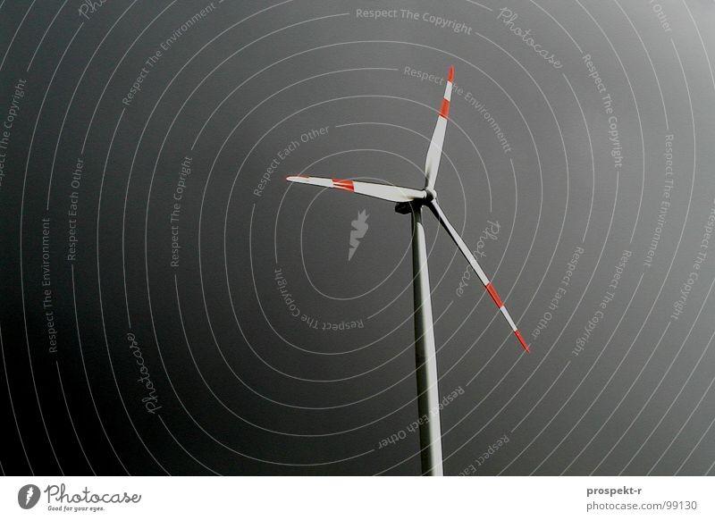 Black Energy weiß rot schwarz Wolken dunkel grau Wind Wetter Energiewirtschaft Elektrizität Technik & Technologie Turm Flügel Windkraftanlage Motor Propeller