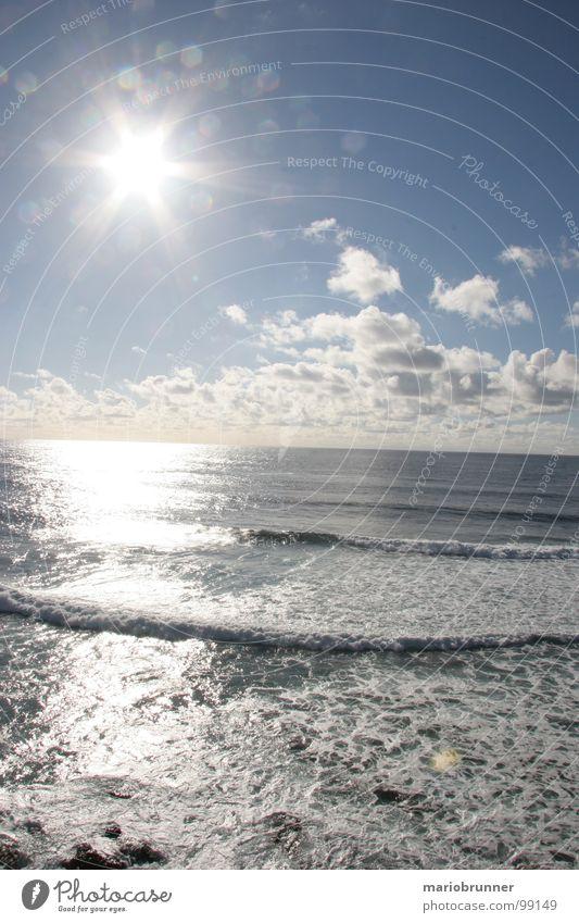 sonne und mehr - 01 Meer Fuerteventura Kanaren Wellen Sommer Ferien & Urlaub & Reisen Sonnenstrahlen Brandung Strand Schaum Himmelskörper & Weltall Wasser