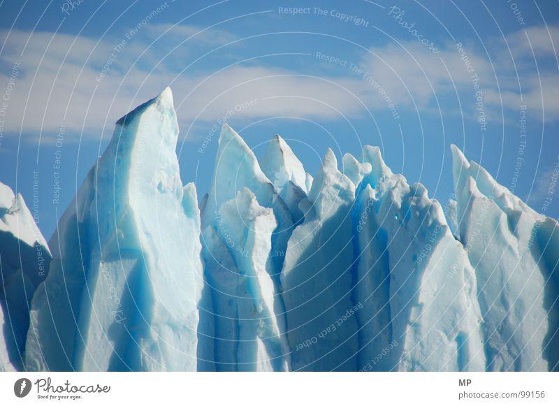 Blue Ice II Natur schön Himmel blau Wolken Einsamkeit kalt Schnee Berge u. Gebirge Eis Klima Spitze Teile u. Stücke Wildtier gefroren Montana