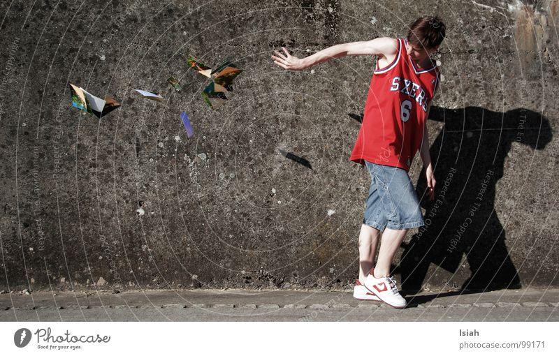 weg damit pt3 Wut Ärger Basketball Betonwand