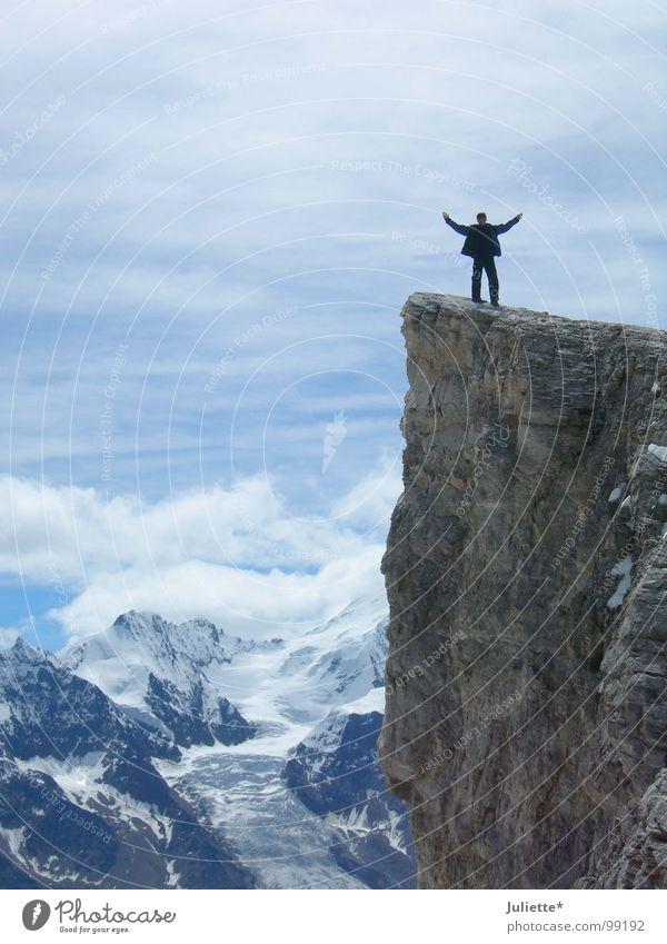 mein Freund-mein Held 2 erhaben Mut Hand Luft Bergsteigen Freude Berge u. Gebirge Leben Freiheit Glück Hände heben blau