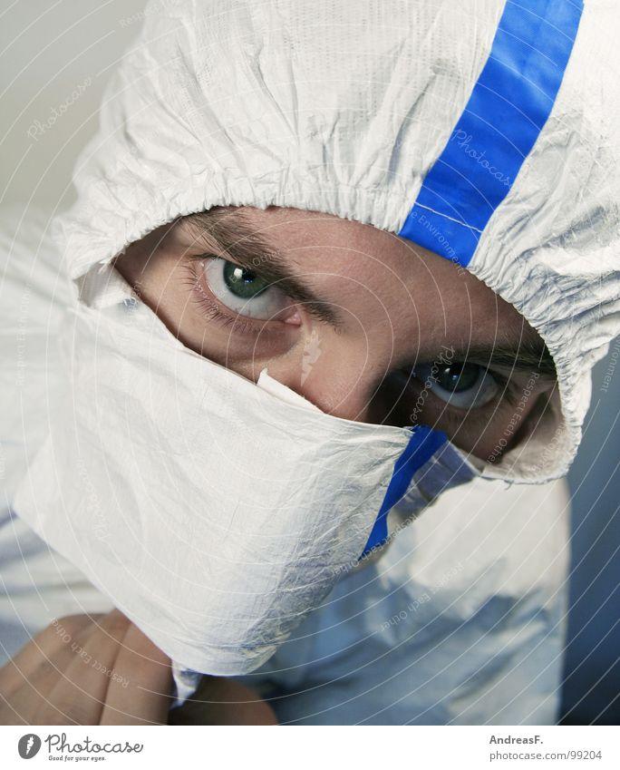 cleanroomclothing Arbeit & Erwerbstätigkeit dreckig Sicherheit Sauberkeit Schutz Fabrik Maske Wissenschaften verstecken Anstreicher Kapuze Staub Chemie Labor Mundschutz Arbeitsanzug