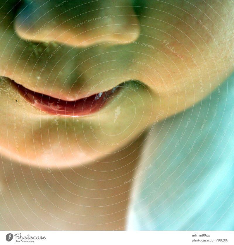 just lips schön rot Mädchen Gesicht lachen Baby Haut Lippen rein Konzentration unschuldig Moral Callcenter