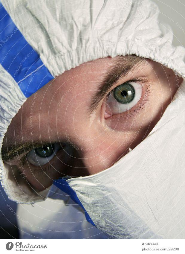 cleanroomclothing III Anstreicher Atemschutzmaske Arbeitsanzug Kapuze lackieren Feinstaub Staub Spritzschutz dreckig Sicherheit Mundschutz Schutzbekleidung