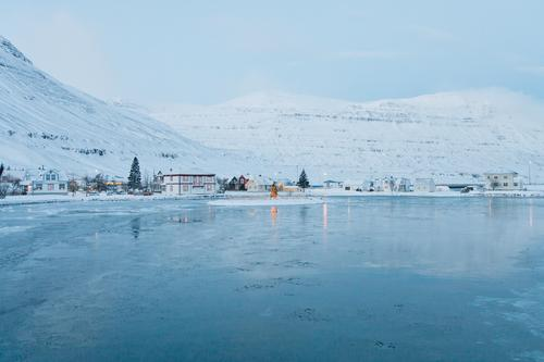 Traumland Ferien & Urlaub & Reisen Weihnachten & Advent blau Landschaft ruhig Ferne Winter kalt Berge u. Gebirge Schnee Freiheit Wohnung glänzend Tourismus
