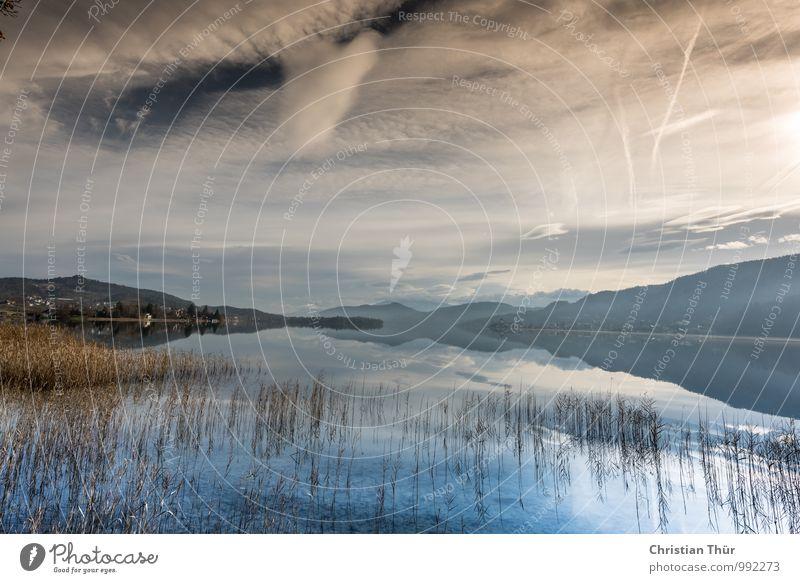 Wörthersee / Pörtschach Natur Pflanze Wasser Sonne Erholung Landschaft ruhig Wolken Winter Berge u. Gebirge Umwelt Leben Gras Freiheit See Stimmung
