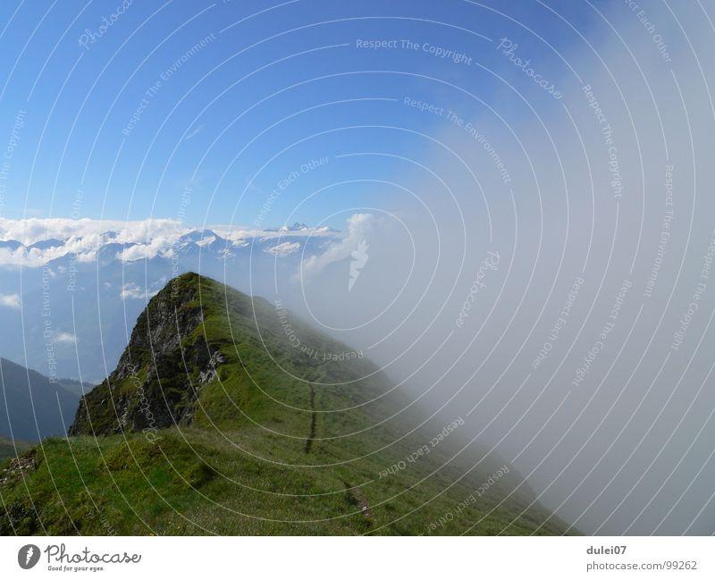 Gaisstein - Pinzgau Berge u. Gebirge wandern Nebel groß Bergsteigen