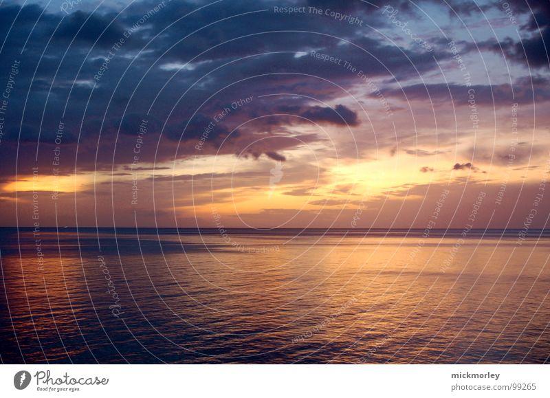 die schöene ewigkeit schön Sonne Meer blau Strand ruhig Wolken Gefühle Stimmung orange Frieden Ewigkeit Thailand