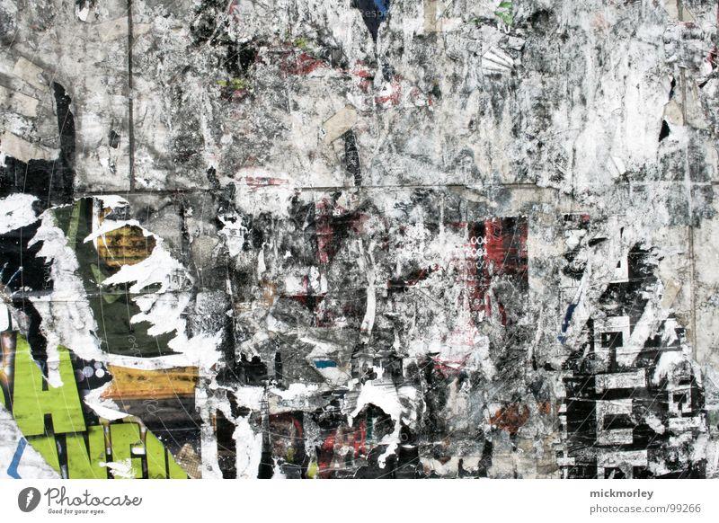 trash deluxe Wand grau Grauwert Müll Kunst Kultur Radio trashig zerissen Riss grafitti