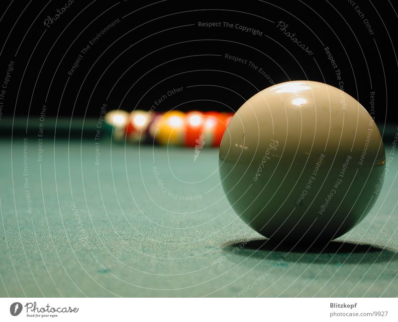 Billard Tisch Ball Kugel Tiefenschärfe Billard