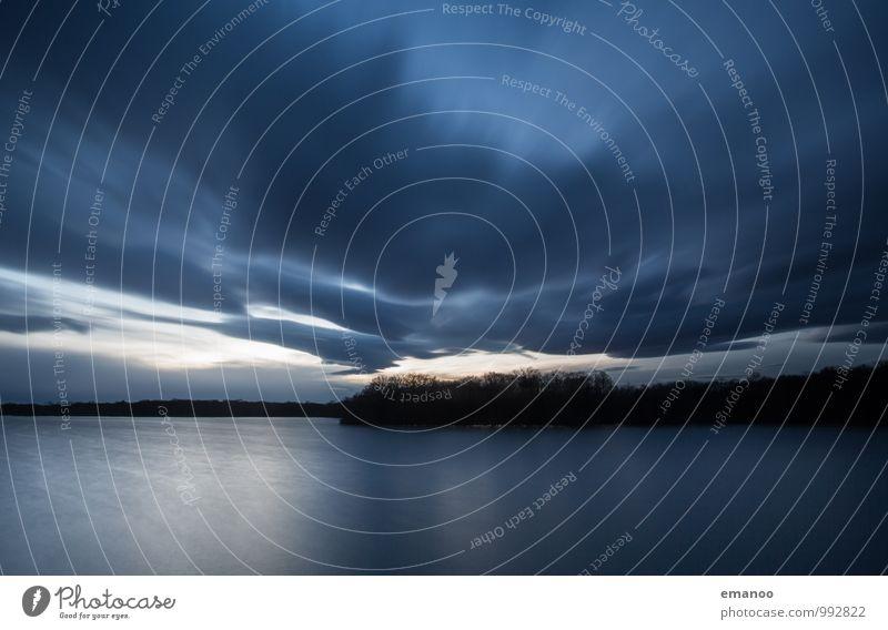 Baggerseewetter Ferien & Urlaub & Reisen Tourismus Ausflug Natur Landschaft Urelemente Luft Wasser Himmel Wolken Gewitterwolken Horizont Herbst Klima Wetter