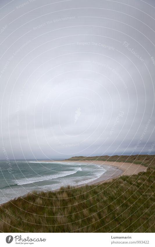 Umarmung Ferien & Urlaub & Reisen Ferne Meer Wellen Landschaft Himmel Wolken Horizont schlechtes Wetter Strand Atlantik kalt schön wild weich Stimmung Sehnsucht