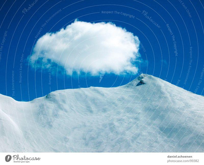Tiefschnee Wolken Gipfel Bergsteigen wandern Schweiz Winter Himmel Berge u. Gebirge Alpen Schnee Eis Spitze Wetter Klettern