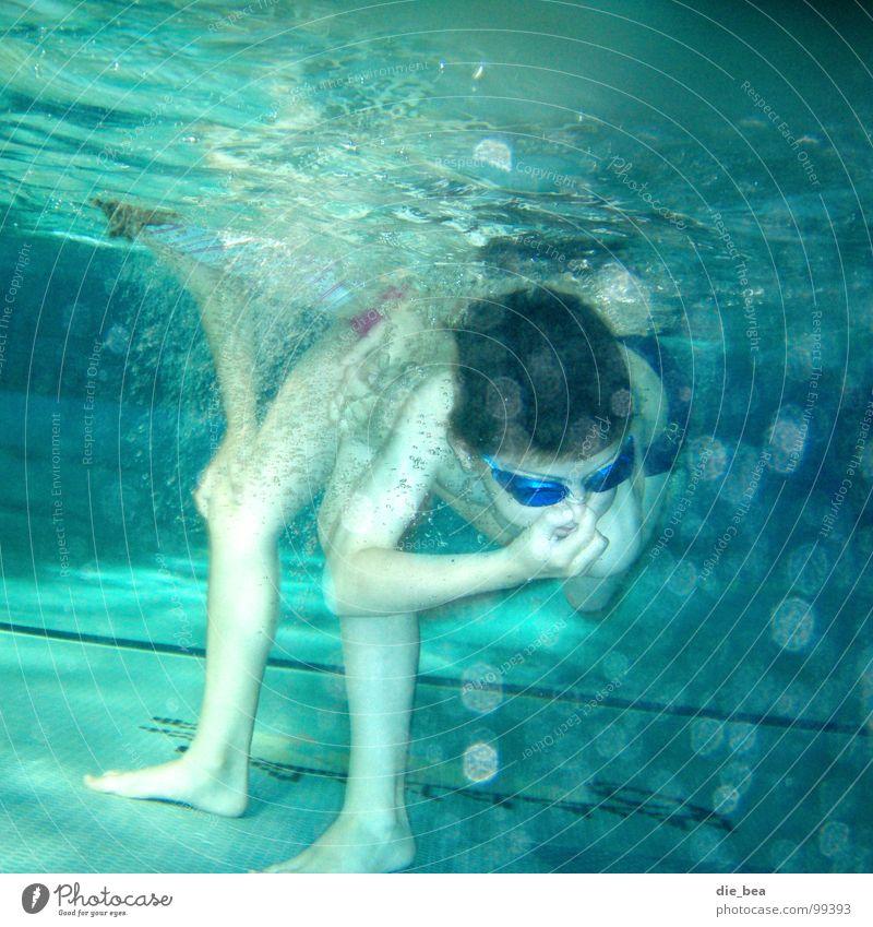 Blubber Beine Arme Schwimmbad tauchen Fliesen u. Kacheln Luftblase Taucherbrille Schwimmbrille