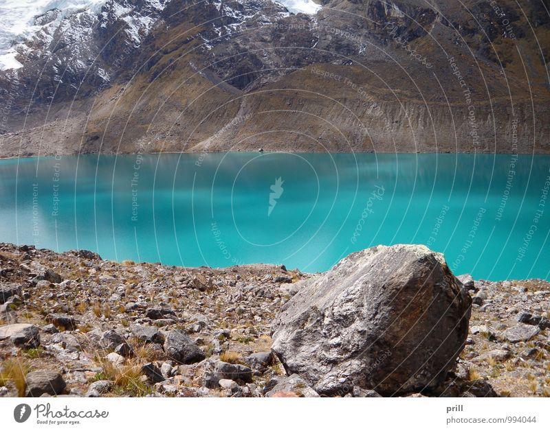 Huancayo Berge u. Gebirge Natur Pflanze Wasser Gras Hügel Schlucht See Stein blau grün türkis kalt rein huancayo Anden Peru Südamerika Hochebene junin Tal