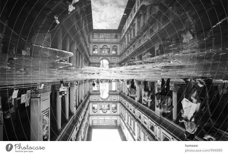 uffizi Stadt Wand Architektur Mauer grau Fassade Bauwerk Sehenswürdigkeit Palast Florenz