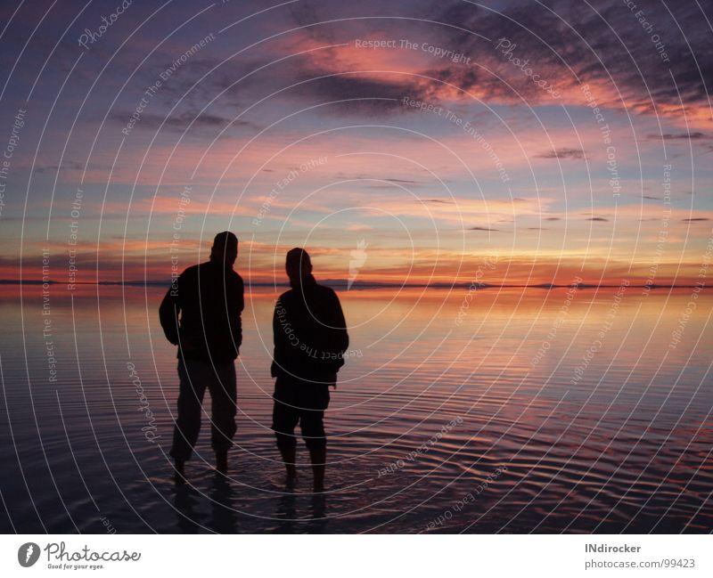 Salt Lake Uyuni, Bolivia Salar de Uyuni Salzsee Bolivien Südamerika Sonnenaufgang Farbenspiel Wolken Horizont Himmel Altiplano