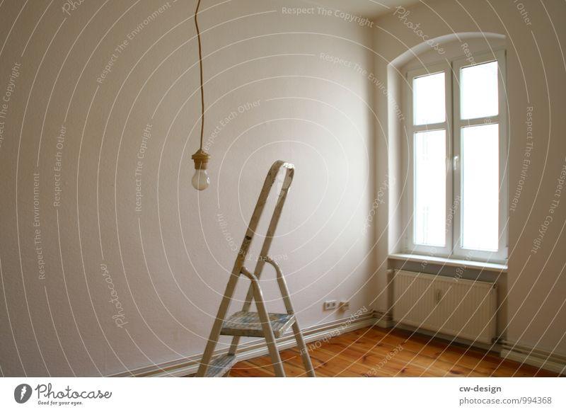 frisch gestrichene Wohnung Wohnungssuche wohnungsmarkt wohnungseinrichtung zimmer Leiter Renovieren Renovierung Häusliches Leben Raum Modernisierung Altbau