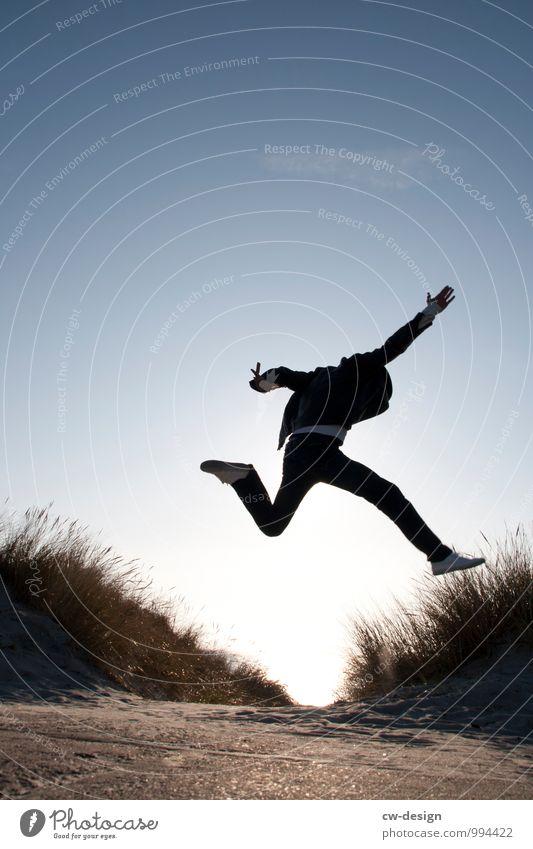 994 Freudensprünge Lifestyle Stil Zufriedenheit Freizeit & Hobby Spielen Mensch maskulin Junger Mann Jugendliche Erwachsene Leben 1 18-30 Jahre 30-45 Jahre