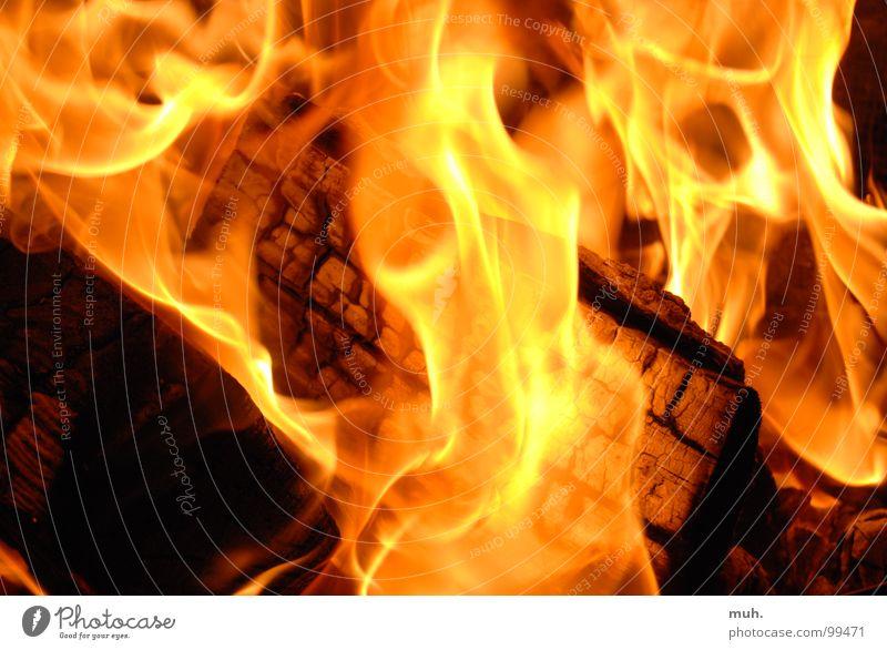 Kaminfeuer Winter Holz Brand Rauch Club brennen Flamme Feuer