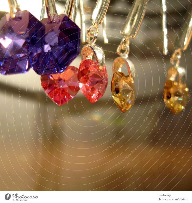 zu verkaufen II blau rot Stein braun glänzend Glas Wassertropfen gold Ladengeschäft Reichtum Schmuck Handwerk silber Ohrringe Accessoire