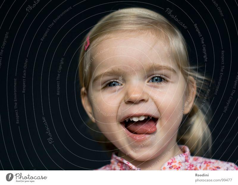 100% werbewirksam Kind Mädchen Freude Gesicht Auge Junge Haare & Frisuren klein lachen lustig Mund Nase Fröhlichkeit süß niedlich Zähne
