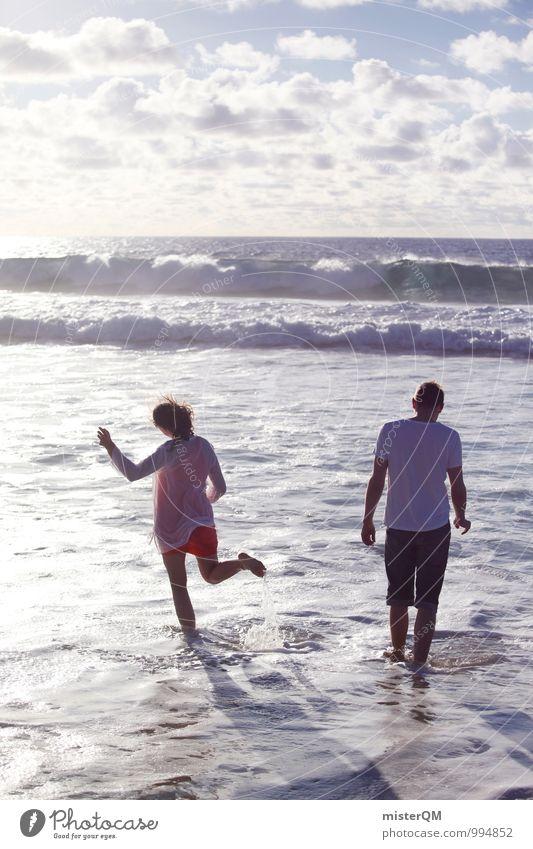 warm-hearted I Mensch Ferien & Urlaub & Reisen Jugendliche Meer Freude Strand Ferne Erwachsene Leben Spielen außergewöhnlich Kunst Zufriedenheit ästhetisch Fernweh toben