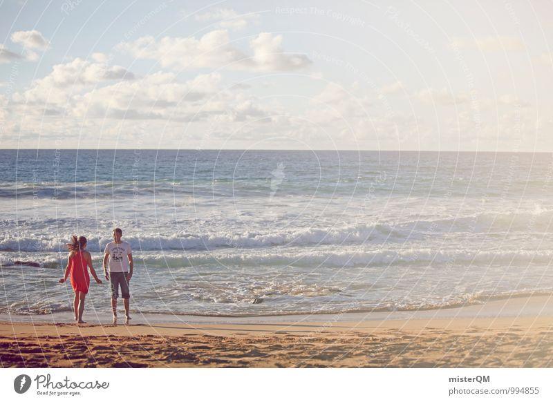 warm-hearted II Mensch Ferien & Urlaub & Reisen Jugendliche Meer ruhig Strand Ferne Liebe Freiheit Kunst Paar Zusammensein Zufriedenheit ästhetisch Zukunft Partnerschaft