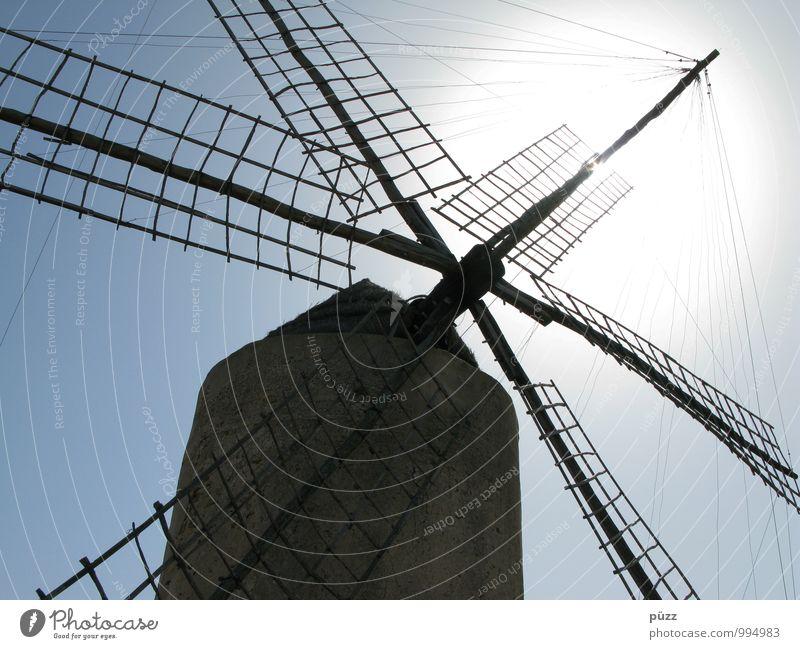 Windmühle Ferien & Urlaub & Reisen Tourismus Ausflug Sightseeing Technik & Technologie Bauwerk Stein Holz Vergangenheit Mühle Müller Brot Spanien Formentera