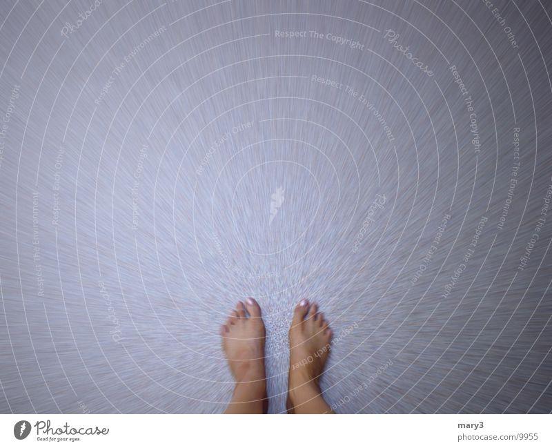 Standpunkt Mensch ruhig Bewegung Fuß Bodenbelag Konzentration Barfuß