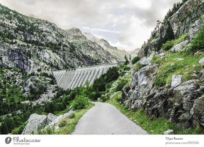 Himmel Natur blau schön grün Farbe weiß Landschaft Wolken Umwelt Berge u. Gebirge Straße Wege & Pfade natürlich Felsen Wetter
