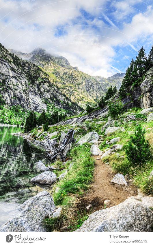 Himmel Natur blau schön grün Farbe Wasser Sonne Landschaft Wolken Winter Umwelt Berge u. Gebirge Wege & Pfade natürlich Felsen