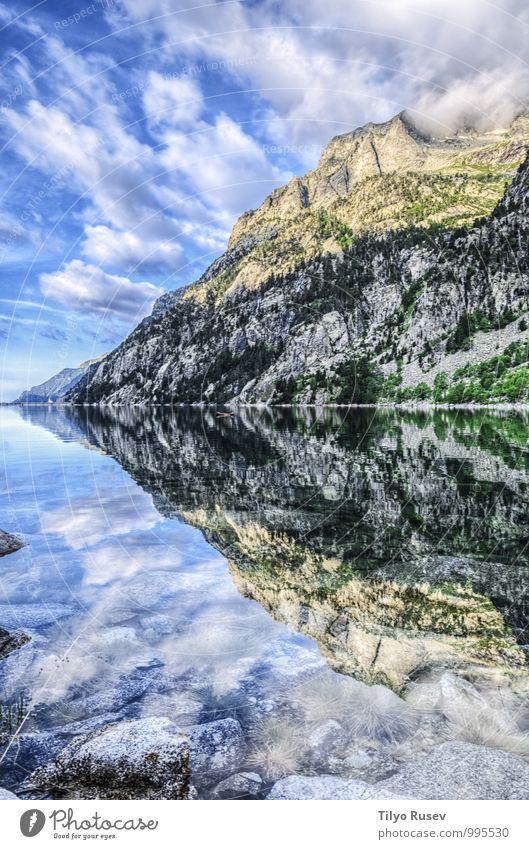Himmel Natur blau schön grün Farbe Wasser Sonne Landschaft Wolken Winter Berge u. Gebirge natürlich Felsen Trinkwasser Aussicht