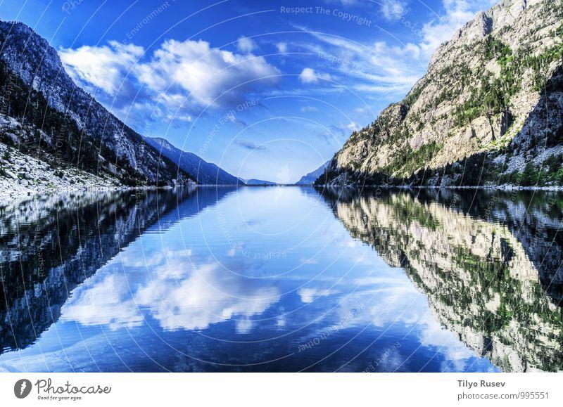 Himmel Natur blau schön grün Farbe Wasser Sonne Berge u. Gebirge natürlich Felsen Trinkwasser Aussicht Europa Spanien Fluss