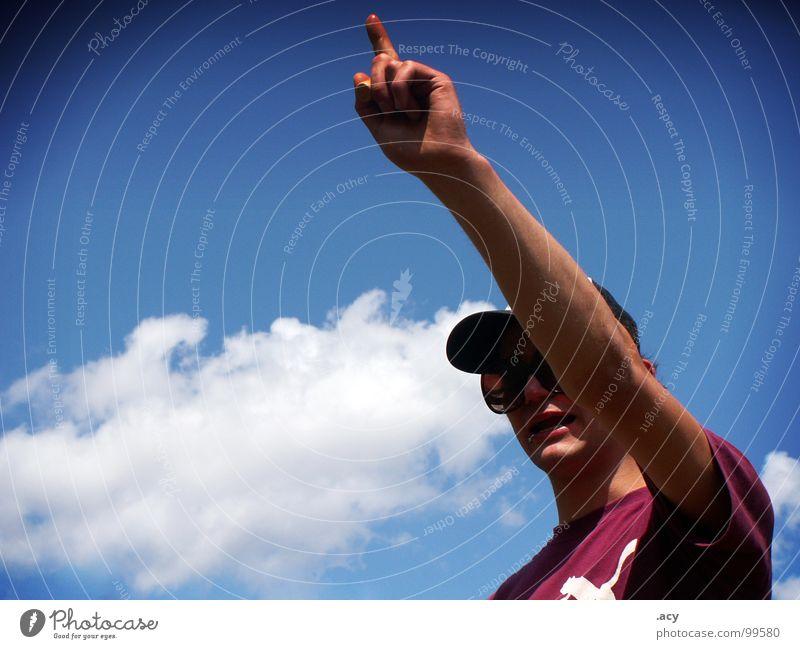 schöne tolle welt - erik 1 Himmel Sommer Freude Feste & Feiern violett Rauschmittel Wissen zeigen Zerstörung Piercing Lehrer Zeigefinger