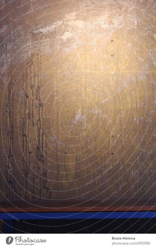 Von der Meditation zur Erleuchtung blau Wand Stil Mauer Linie braun Dekoration & Verzierung Häusliches Leben elegant Schilder & Markierungen ästhetisch Beton einfach Streifen Gemälde Meditation