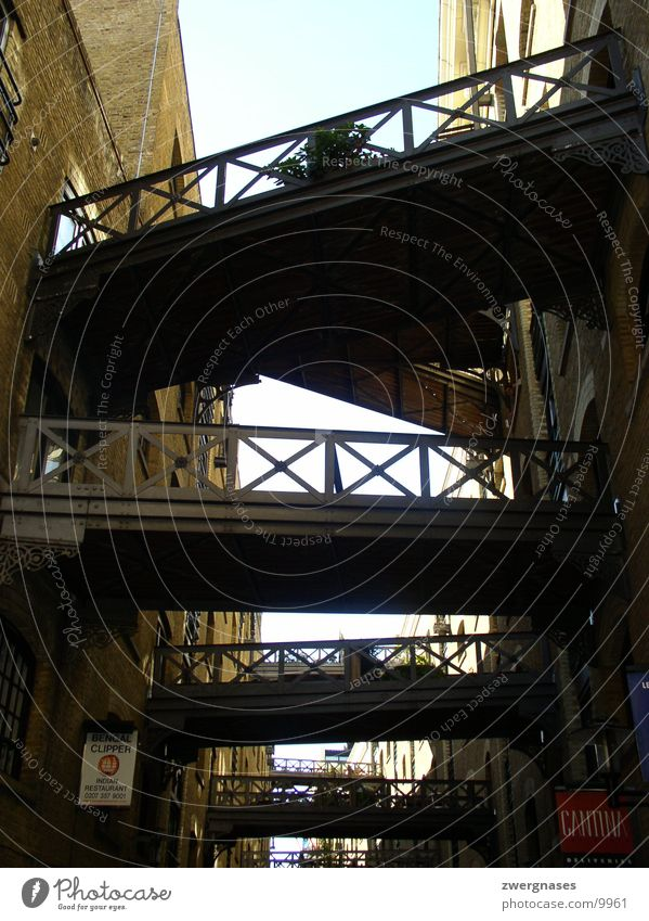 Bridges Holz Gebäude Metall Perspektive Brücke Verbindung London