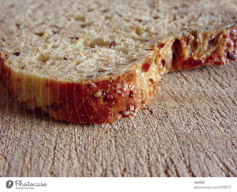Schnitte Farbfoto Nahaufnahme Detailaufnahme Muster Strukturen & Formen Menschenleer Tag Schwache Tiefenschärfe Lebensmittel Brot Ernährung Frühstück Portion
