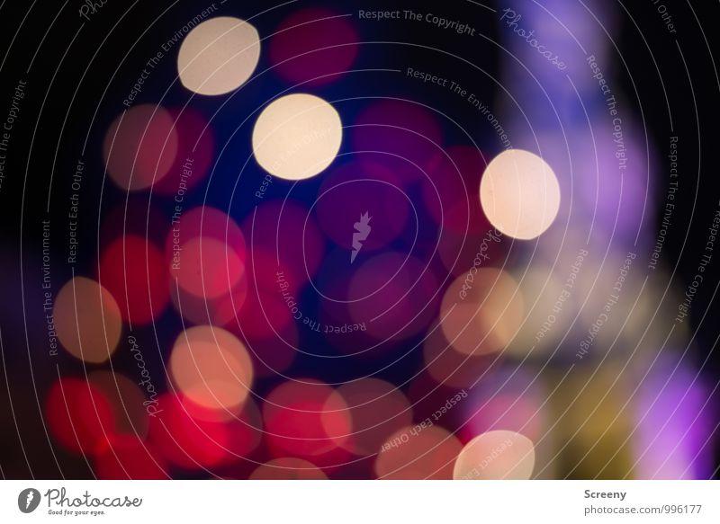 Weihnachtslichter Nachtleben Veranstaltung Weihnachten & Advent Weihnachtsmarkt glänzend leuchten blau mehrfarbig gelb gold violett rosa rot Stimmung Unschärfe