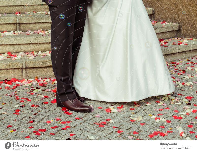 Startplatz zum... (Glück?) Mensch Liebe Paar Treppe Lebensfreude Romantik Hochzeit Körperhaltung Partner Blütenblatt Erwartung Seifenblase Treue Klischee