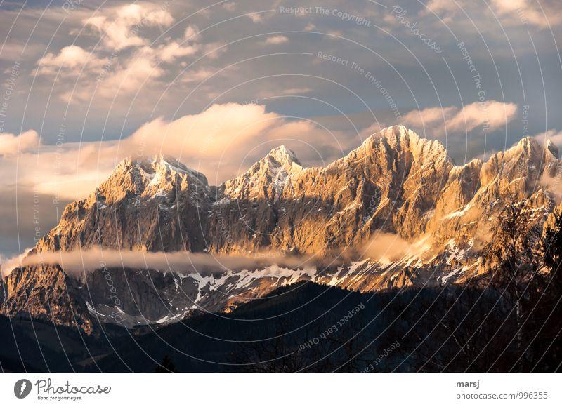 Kraft | der Berge Himmel Natur Einsamkeit Landschaft Wolken Berge u. Gebirge Herbst Frühling Schnee Stimmung Felsen träumen Tourismus Schönes Wetter Gipfel Hoffnung