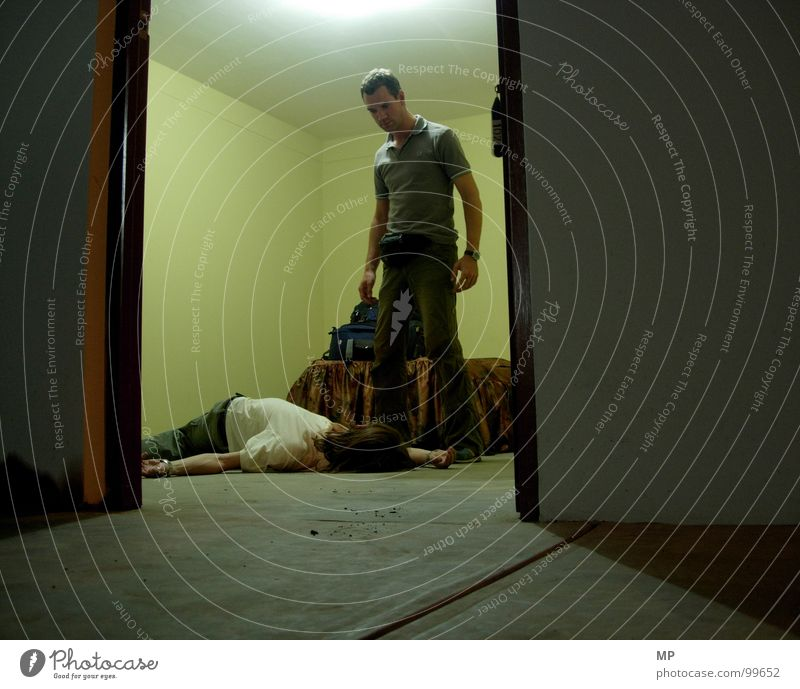 Der letzte Ausweg? Tod grau Angst fallen gruselig Gewalt Krimineller Panik Kriminalität Mord Alptraum Kriminalroman töten Schrecken spukhaft Mörder