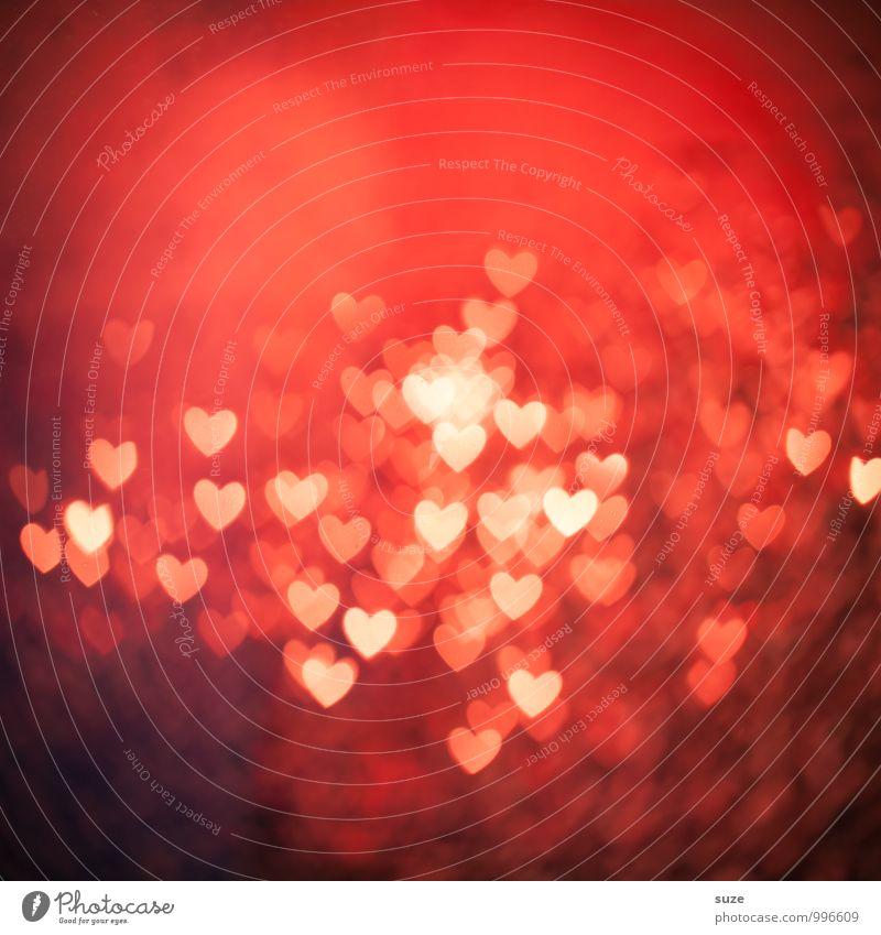 Herzinfarkt rot Liebe Gefühle Beleuchtung Stil Hintergrundbild Feste & Feiern Lifestyle Stimmung Party Design leuchten Dekoration & Verzierung Geburtstag Fröhlichkeit Kreativität