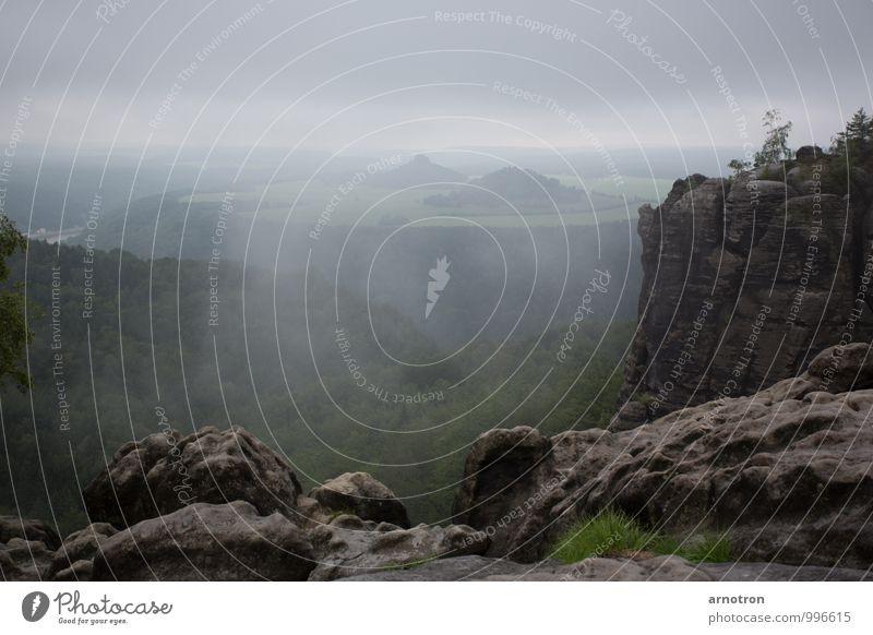 Amon Sûl - Weathertop - Wetterspitze Berge u. Gebirge wandern Landschaft Himmel Gewitterwolken Nebel Regen Gras Wald Felsen Sächsische Schweiz Schlucht Stein