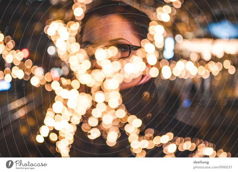 Overchristmazzed Mensch Jugendliche blau Junge Frau 18-30 Jahre schwarz Erwachsene gelb Wärme feminin träumen Kraft gold Zukunft Netzwerk Kitsch