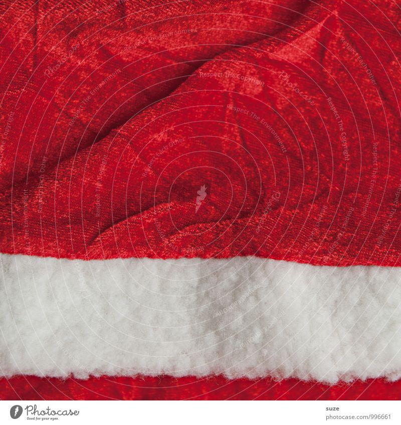 Stoff zum Hausieren Weihnachten & Advent weiß rot lustig Hintergrundbild Feste & Feiern außergewöhnlich Mode Design Dekoration & Verzierung Kreativität Bekleidung einfach Zeichen Wunsch Stoff