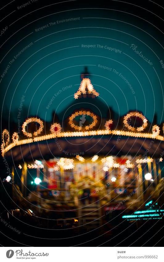 Bitte noch ne Runde ... Lifestyle Freude Nachtleben Feste & Feiern Oktoberfest Weihnachten & Advent Jahrmarkt Kindheit drehen leuchten außergewöhnlich