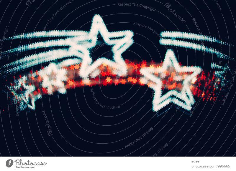 Sternenzauber Weihnachten & Advent weiß rot schwarz dunkel Gefühle Beleuchtung Stil Hintergrundbild Feste & Feiern Stimmung Party Lifestyle Dekoration & Verzierung Design leuchten