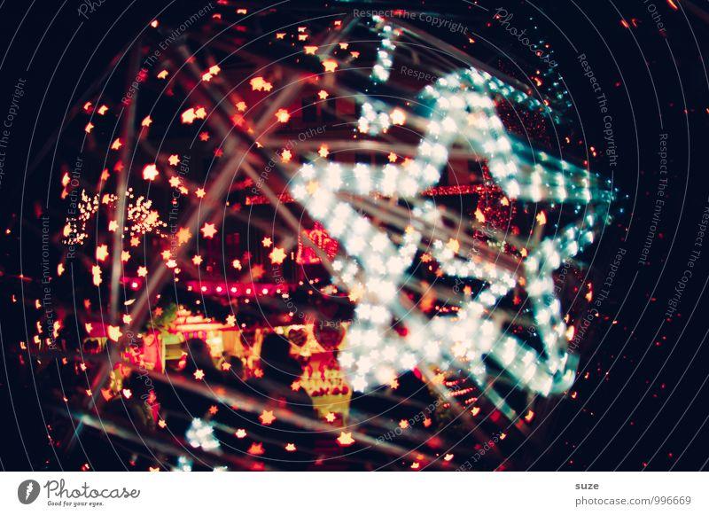 Sternplatz Lifestyle Stil Design Dekoration & Verzierung Nachtleben Party Feste & Feiern Weihnachten & Advent Zeichen leuchten außergewöhnlich dunkel